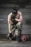 Πορτρέτο του αθλητή μυών Στοκ φωτογραφίες με δικαίωμα ελεύθερης χρήσης