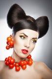 Πορτρέτο του αισθησιακού προτύπου γυναικών με την πολυτέλεια makeup στοκ φωτογραφίες με δικαίωμα ελεύθερης χρήσης
