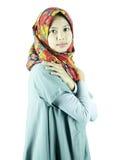 Πορτρέτο του ασιατικού μουσουλμανικού κοριτσιού στοκ φωτογραφίες