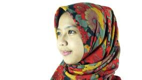Πορτρέτο του ασιατικού μουσουλμανικού κοριτσιού στοκ εικόνες με δικαίωμα ελεύθερης χρήσης