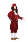 Πορτρέτο του ατόμου Μεσαιώνων στο κόκκινο κοστούμι Στοκ εικόνες με δικαίωμα ελεύθερης χρήσης