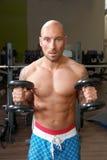 Πορτρέτο του ατόμου που ασκεί στη γυμναστική Στοκ Φωτογραφίες