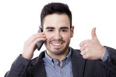 πορτρέτο του ατόμου της επιχείρησης που μιλά τηλεφωνικώς Στοκ Εικόνες