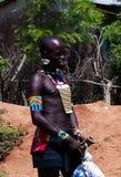 Πορτρέτο του ατόμου φυλών hamer, κοιλάδα Omo, Αιθιοπία Στοκ Φωτογραφίες