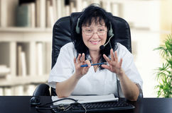 Πορτρέτο του αυτοαπασχολούμενου εικονικού γιατρού Στοκ Φωτογραφία