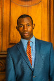 Πορτρέτο του επιχειρηματία αφροαμερικάνων στη Νέα Υόρκη Στοκ Φωτογραφία