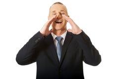 Πορτρέτο του επιχειρηματία που απαιτεί από κάποιο Στοκ φωτογραφίες με δικαίωμα ελεύθερης χρήσης