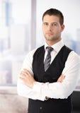 Πορτρέτο του επιχειρηματία στο γιλέκο στοκ εικόνες