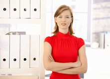 Πορτρέτο του εργαζομένου γραφείων θηλυκών Στοκ Φωτογραφίες