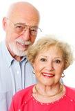 Πορτρέτο του ευτυχούς ανώτερου ζεύγους στοκ φωτογραφία με δικαίωμα ελεύθερης χρήσης