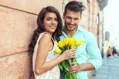 Πορτρέτο του ζεύγους ερωτευμένο στοκ εικόνες