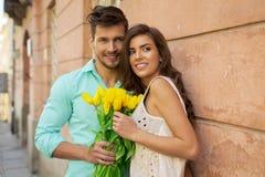 Πορτρέτο του ζεύγους ερωτευμένο στοκ φωτογραφία με δικαίωμα ελεύθερης χρήσης