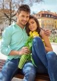 Πορτρέτο του ζεύγους ερωτευμένο στοκ εικόνα