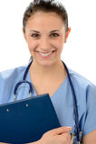 Πορτρέτο του θηλυκού ιατρού παθολόγου σε ομοιόμορφο Στοκ φωτογραφίες με δικαίωμα ελεύθερης χρήσης