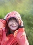 Πορτρέτο του κάτω χαμόγελου κοριτσιών συνδρόμου Στοκ Εικόνα