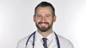 Πορτρέτο του κεφαλιού τινάγματος γιατρών για να δεχτεί, ναι φιλμ μικρού μήκους