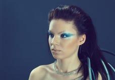 Πορτρέτο του κοριτσιού φαντασίας cyborg Στοκ φωτογραφίες με δικαίωμα ελεύθερης χρήσης