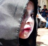 Πορτρέτο του κοριτσιού zombie, Ισημερινός στοκ φωτογραφία