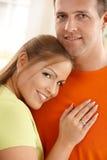 Πορτρέτο του μέσος-ενήλικου ζεύγους στοκ φωτογραφίες