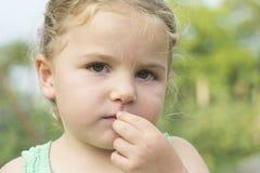 Πορτρέτο του μικρού κοριτσιού Στοκ Φωτογραφίες
