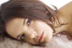 Πορτρέτο του μοντέλου γυναικών μόδας Στοκ Φωτογραφία