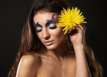 Πορτρέτο του μοντέλου γυναικών μόδας Στοκ Φωτογραφίες