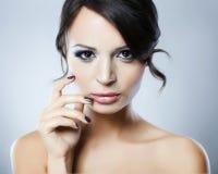 Πορτρέτο του μοντέλου γυναικών μόδας Στοκ εικόνες με δικαίωμα ελεύθερης χρήσης