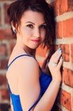 Πορτρέτο του μπλε-eyed σαγηνευτικού brunette Στοκ εικόνες με δικαίωμα ελεύθερης χρήσης