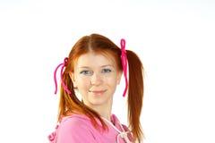 Πορτρέτο του νέου ελκυστικού κοριτσιού Στοκ φωτογραφία με δικαίωμα ελεύθερης χρήσης