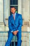 Πορτρέτο του νέου επιχειρηματία αφροαμερικάνων στη Νέα Υόρκη Στοκ φωτογραφίες με δικαίωμα ελεύθερης χρήσης