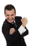 Πορτρέτο του νέου επιχειρηματία στο κοστούμι που δείχνει σε σας Στοκ εικόνες με δικαίωμα ελεύθερης χρήσης
