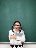 Πορτρέτο του νέου θηλυκού nerd Στοκ φωτογραφία με δικαίωμα ελεύθερης χρήσης