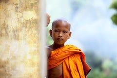 Πορτρέτο του νέου μοναχού Στοκ Εικόνες