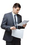 Πορτρέτο του νέου όμορφου επιχειρηματία. Στοκ Φωτογραφίες
