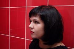 Πορτρέτο του νέου brunette Στοκ Εικόνες