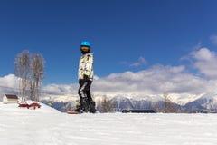 Πορτρέτο του νέου snowboarder Στοκ εικόνα με δικαίωμα ελεύθερης χρήσης