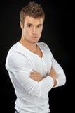 Νεαρός άνδρας στο άσπρο πουκάμισο Στοκ εικόνες με δικαίωμα ελεύθερης χρήσης