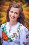 Πορτρέτο του ουκρανικού κοριτσιού Στοκ Φωτογραφία