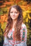 Πορτρέτο του ουκρανικού κοριτσιού Στοκ φωτογραφίες με δικαίωμα ελεύθερης χρήσης