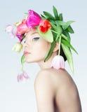 Πορτρέτο του ολλανδικού λουλουδιού Στοκ Εικόνες