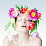 Πορτρέτο του ολλανδικού λουλουδιού Στοκ Εικόνα