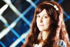 Πορτρέτο του πολύ ευγενούς όμορφου κοριτσιού στο ύφος ενός anime Στοκ φωτογραφία με δικαίωμα ελεύθερης χρήσης
