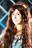 Πορτρέτο του πολύ ευγενούς όμορφου κοριτσιού στο ύφος ενός anime Στοκ εικόνα με δικαίωμα ελεύθερης χρήσης