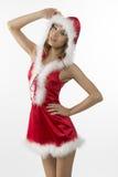 Πορτρέτο του προκλητικού κοριτσιού Χριστουγέννων Στοκ φωτογραφία με δικαίωμα ελεύθερης χρήσης