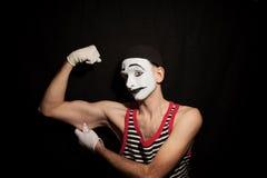 Πορτρέτο του δράστη mime στοκ εικόνα με δικαίωμα ελεύθερης χρήσης