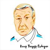 Πορτρέτο του Ρετζέπ Ταγίπ Ερντογάν ελεύθερη απεικόνιση δικαιώματος