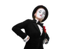 Πορτρέτο του υπερήφανου και αλαζονικού mime Στοκ φωτογραφία με δικαίωμα ελεύθερης χρήσης
