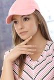 Πορτρέτο του φίλαθλου κοριτσιού Στοκ εικόνες με δικαίωμα ελεύθερης χρήσης