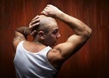 Πορτρέτο του φαλακρού αθλητικού προσώπου Στοκ Εικόνα