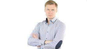 Πορτρέτο του φιλικού και χαμογελώντας επιχειρηματία που εξετάζει τη κάμερα με την αξιοπιστία Στοκ φωτογραφίες με δικαίωμα ελεύθερης χρήσης